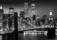 NEW YORK brooklyn bridge night